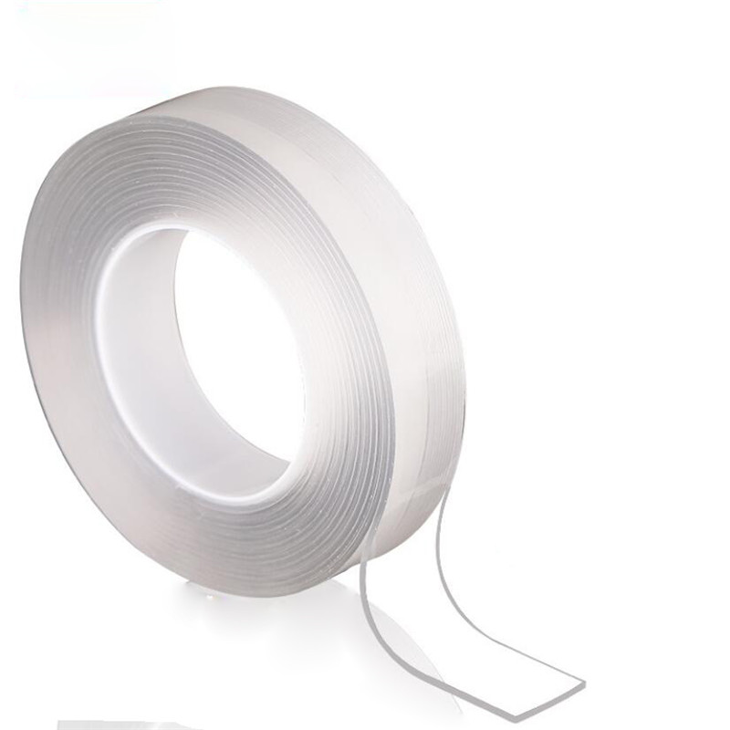 1M/2M/5M Nano Magic Tape Double Sided Tape Transparent No Trace Reusable Waterproof Adhesive Tape Cleanable Home gekkotape 3