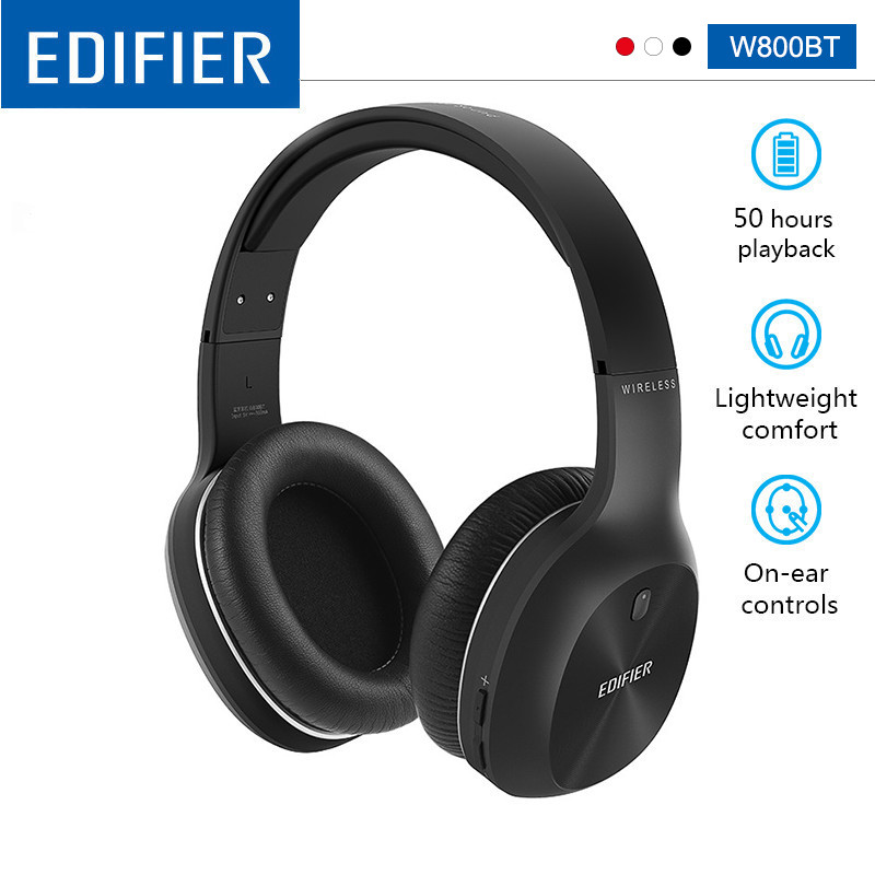 EDIFIER W800BT Wireless Bluetooth Headphones Bluetooth v4 0 40mm Drivers Unit Up to 50 hours Using Battery Stereo HIFI Headset