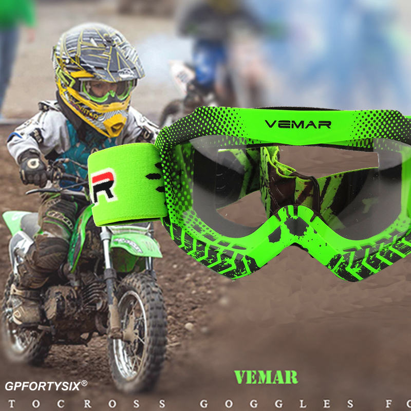 2020 Professional Children Motocross Goggles Kids Motorcycle Glasses Kid MX MTB Off-Road Dirt Bike Child Goggles For MX Helmet