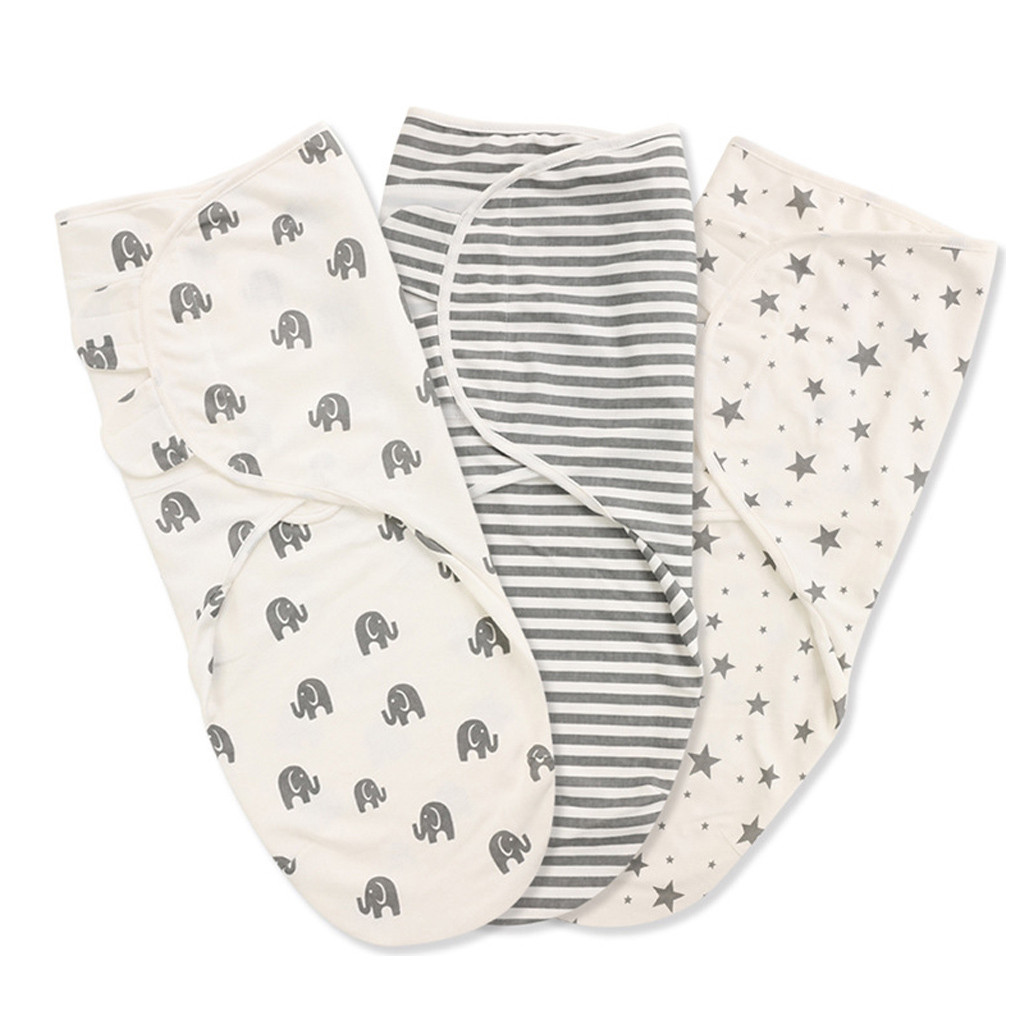 Baby Swaddle Wrap Newborn Blanket 100/% Organic Cotton Pack of 3 Swaddles 0-3