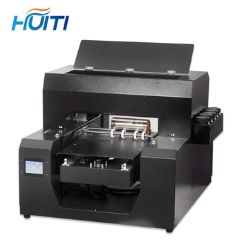 Full automatic UV printer A3 UV Led flatbed Bottle Printer with 2500ml UV ink set For phone case Cylinder wood glass printing
