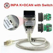 INPA K+DCAN USB Interface For B-MW OBD CAN Reader Diagnostic scanner Switched INPA DIS SSS NCS Coding Auto Code Scanner