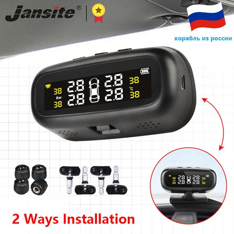 Jansite солнечная система контроля давления в шинах автомобиля шины Давление сигнализации Монитор Системы Дисплей интеллигентая (ый) Температ...