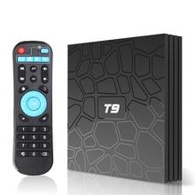 T9 TV Box Android 9.0 RK3328 Quad core 4G 32G 64G 2G 16G WiFi HD 3D 4K H.265 BT Smart Set top box