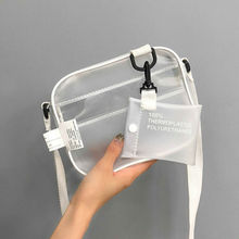 New Women Summer Beach Bag Clear PVC Transparent Bags Shoulder Waterproof Small Crossbody Messenger Handbags Totes