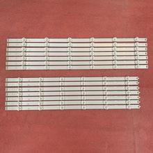 14 قطعة LED شريط إضاءة خلفي ل LG 55LN6200 55LA6205 55LA6200 55LA6210V 55LA6130 LN54M550060V12 INNOTEK POLA2.0 55 R L بولا 2.0