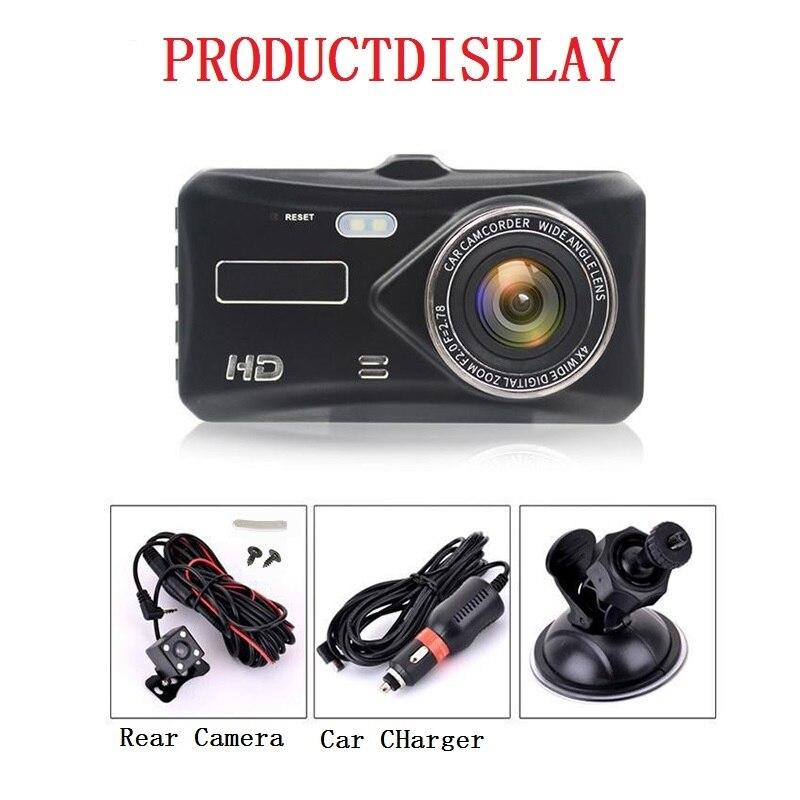 "jltart Dash cam Dual Lens car DVR Full HD 1080P4""Touch Screen IPS With Backup Rear Camera Registrator Night Vision Video Recorde 6"