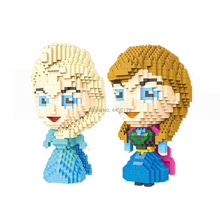 hot LegoINGlys creators fairy tale snow queen elsa and anna princess figures mini micro diamond building block model bricks toys