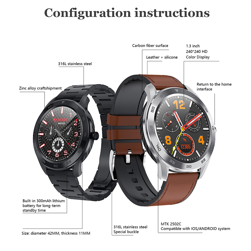 Image 5 - Smart Watch Bluetooth Call ECG PPG Fitness Watch Heart Rate Blood Pressure Smartwatch IP68 Waterproof Men Sport Watch-in Smart Watches from Consumer Electronics