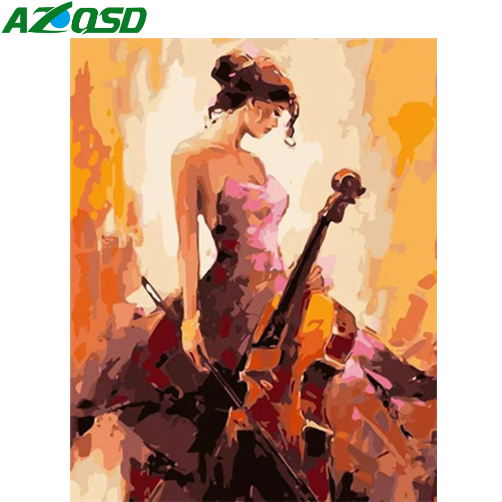 AZQSD Paint By Numbers For Adults Girl DIY Kits Unframe Wall Art Oil Painting By Numbers Portrait Acrylic Paint Home Decoration