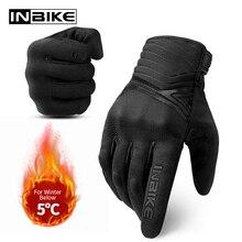 INBIKE motosiklet eldivenleri erkekler sert kabuk motosiklet eldivenleri kış kadın dokunmatik ekran yarış motokros dişli darbeye dayanıklı Moto eldiven