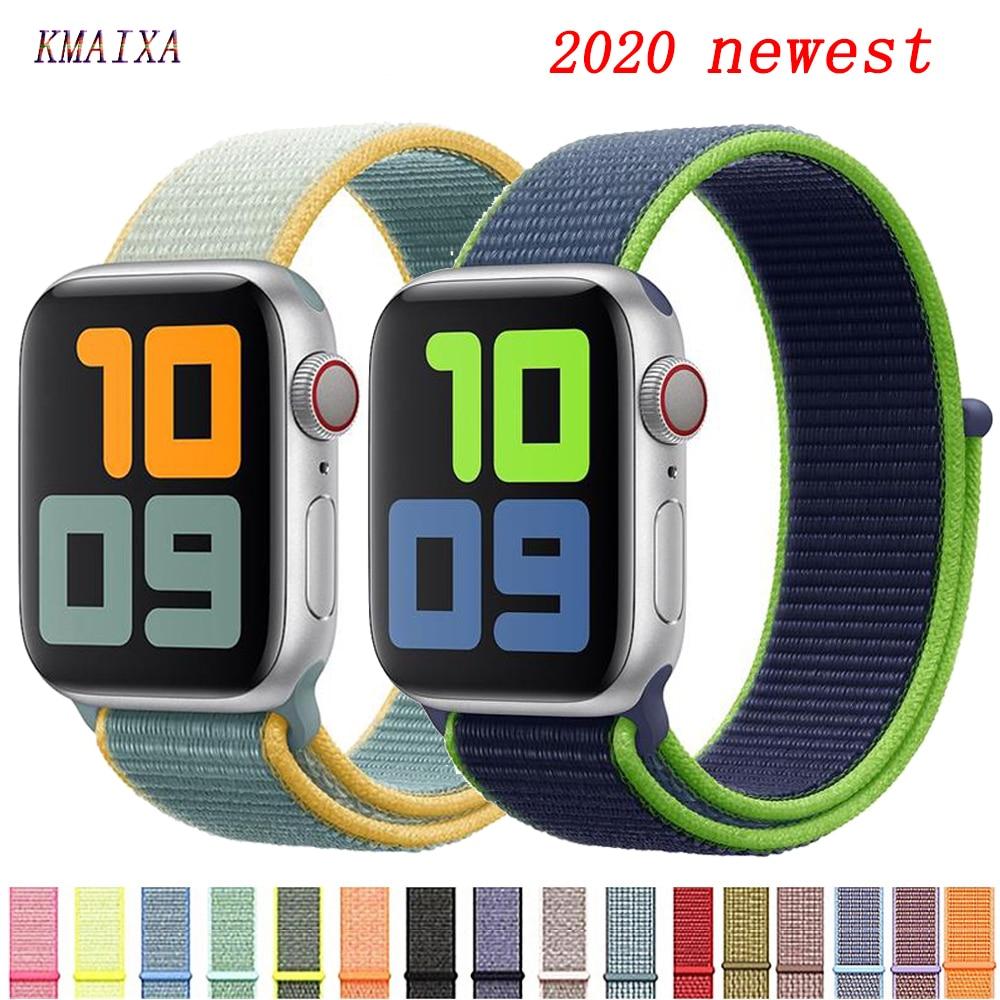 Strap Voor Apple Watch Band 44 Mm 40 Mm Nylon Armband Horlogeband Correa Pulseira 44/42 Apple Watch 5 4 3 2 1 iwatch Band 42 Mm 38 Mm-in Horlogebanden van Horloges op title=