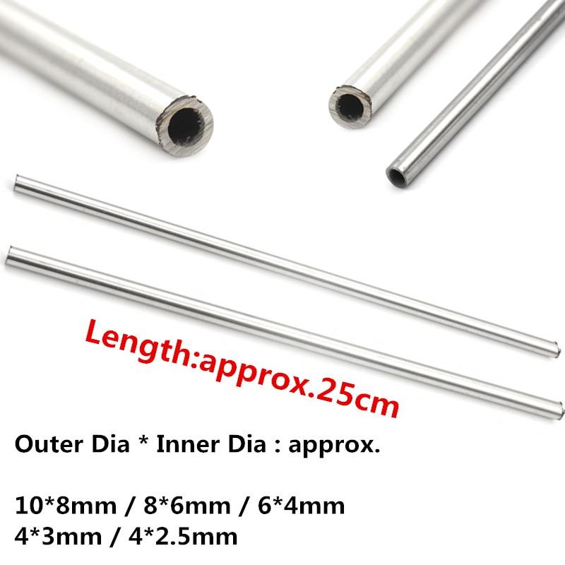 Hot 250mm 304 Seamless Stainless Steel Capillary Tube 8mm 6mm / 4mm 3mm / 6mm 4mm / 4mm 2.5mm