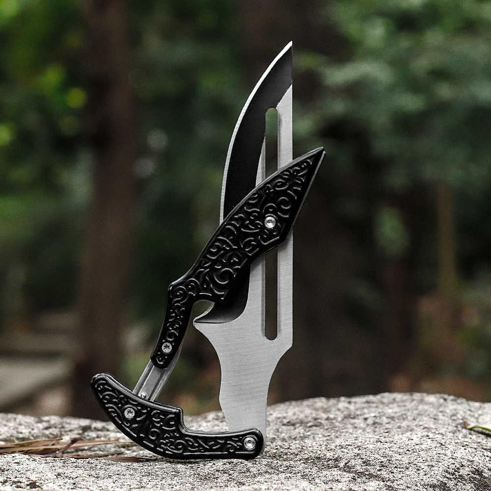 Siyah büyücü yeni gelenler bıçaklar Mini katlanır bıçak CS gitmek bıçak hızlı açık avcılık silah hayatta kalma aracı EDC adam kadınlar için