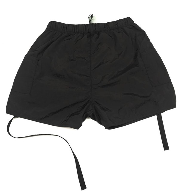 Best Version Blue Iridescent Belted Track Shorts Nylon Sweat Shorts Lined With Faux-suede 2