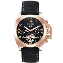 цена New Top Luxury Relogio Masculino  Tourbillon automatic mechanical waterproof luminous business men watch fashion casual watch онлайн в 2017 году