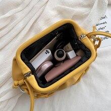 Fashion Cloud-wrapped Soft PU Leather Small Bag Shoulder Slant Dumpling Bag Handbag Day Clutches Bags Messenger Crossbody Bag