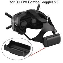 Bandana caso de armazenamento da bateria volta clipe para dji fpv combo óculos v2 zangão cabeça cinta suporte da bateria para voar óculos