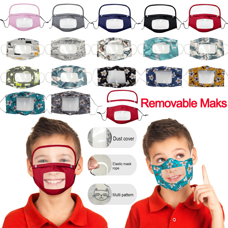 children's-scarf-m-a-s-k-with-clear-screen-transparent-mouth-cover-visible-expression-for-the-deaf-and-hard-of-hearing-kid-maske