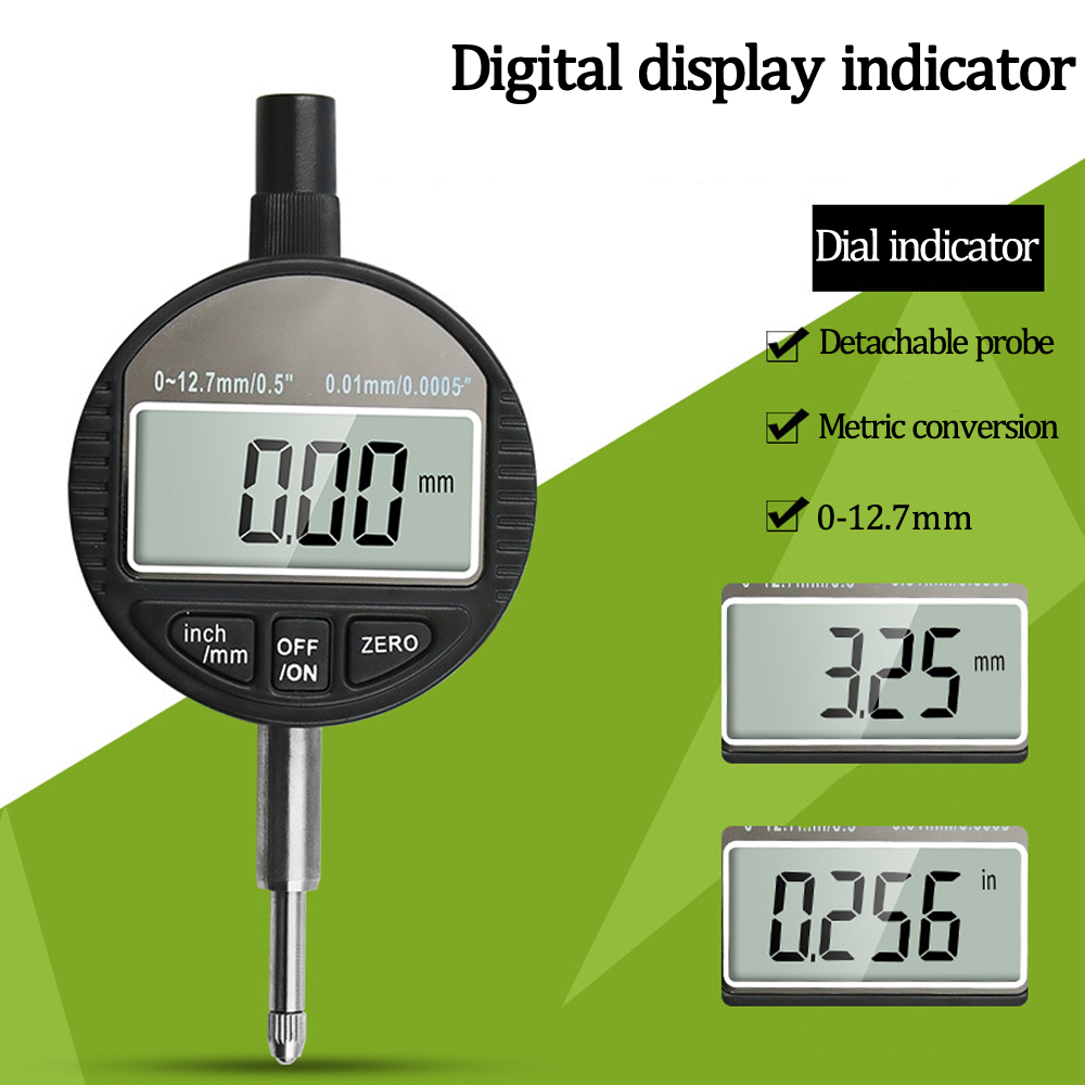 Digital Display Dial Indicator 0-12.7 High-Precision Electronic Digital Dial Indicator 0.01mm Indicator Measuring Tool