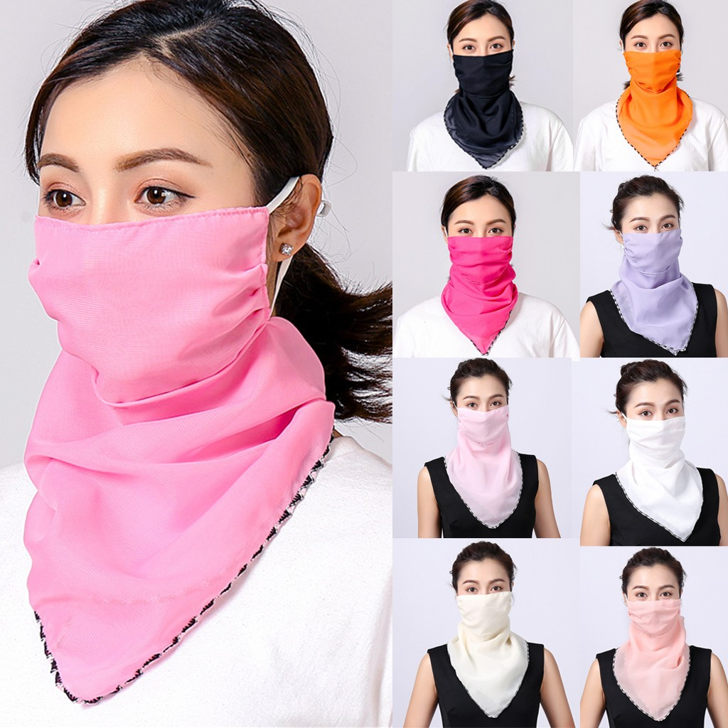 Head Scarf Women Foulard Femme Women Sun Chiffon Protection Scarf Dustproof Neck Scarf Protective Bandana бандана(China)
