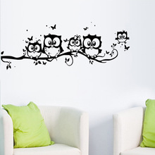 wall sticker tree animals Bedroom Owl Butterfly Wall Stickers home decor living room