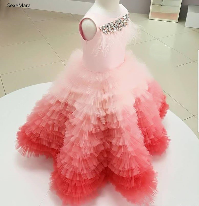 SexeMara Girls Dresses Long Ball Gown Evening Dress Kids Clothes Girls Children Prom Princess Party Dress 2 4 10 12 14Years