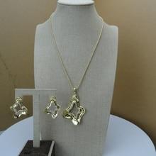 Yuminglai  Italian Designer Jewelry 24K Dubai Costume Jewelry Sets FHK6685