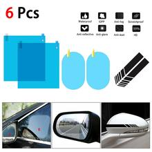 6PCS Auto Sticker Car Side Rearview Mirror Stickers Protective Film Waterproof Anti-Fog Side Window Clear Film Car Accessories treyues 30cmx1 2m 12 x 48 auto car light headlight taillight tint vinyl film sticker easy stick whole car decoration clear