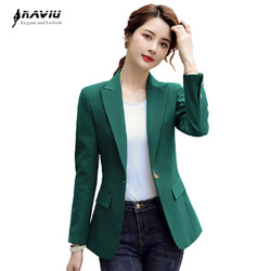 Naviu Hoge Kwaliteit Wome Blazer Leisure Jas Katoen Met Lange Mouwen Office Werkkleding Uniform Tops