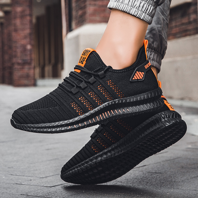 Image 4 - 2019 fashion casual shoes mesh men sneakers Lightweight Lac up Men Shoes Breathable Walking Sneakers KITLELER Zapatillas HombreMens Casual Shoes   -