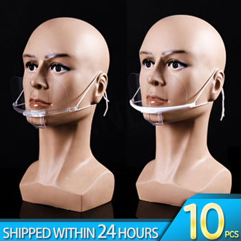 10/20/50PCS Kitchen Transparent Masks Anti Fog PVC Masks Suitable For Resturant Hotel Surpermarket Kitchen Tools