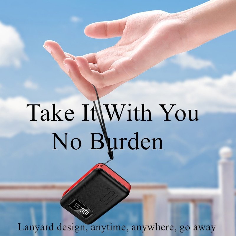 Mini Power Bank Three Input Port Dual USB Mobile Phone External Battery Fast Charge For iphone xiaomi Portable Charger PowerBank in Power Bank from Cellphones Telecommunications