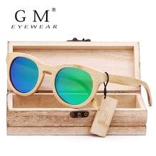 GM бамбуковые солнцезащитные очки мужские деревянные Солнцезащитные очки женские брендовые дизайнерские винтажные деревянные солнцезащитные очки Oculos de sol masculino