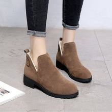 Spring and autumn women's boots, PU trimming boots, 2.5 cm high heel shoes(China)