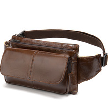 2020 Fashion Men Waist Belt Bag Male New Brand Chest Handbag Small Leather Fanny Pack Phone Pouch Bags Travel