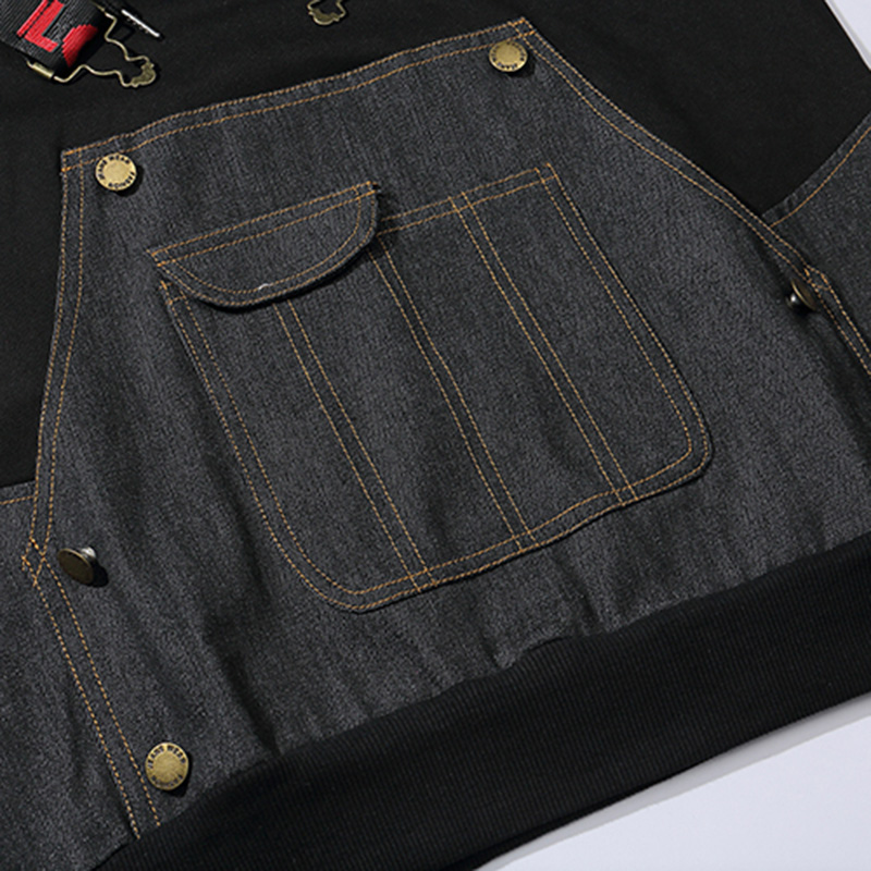 Заказной с собственным логотипом пуловер толстовки для мужчин взрослых печатных толстый свитер красочные черный хлопок свитер - 5