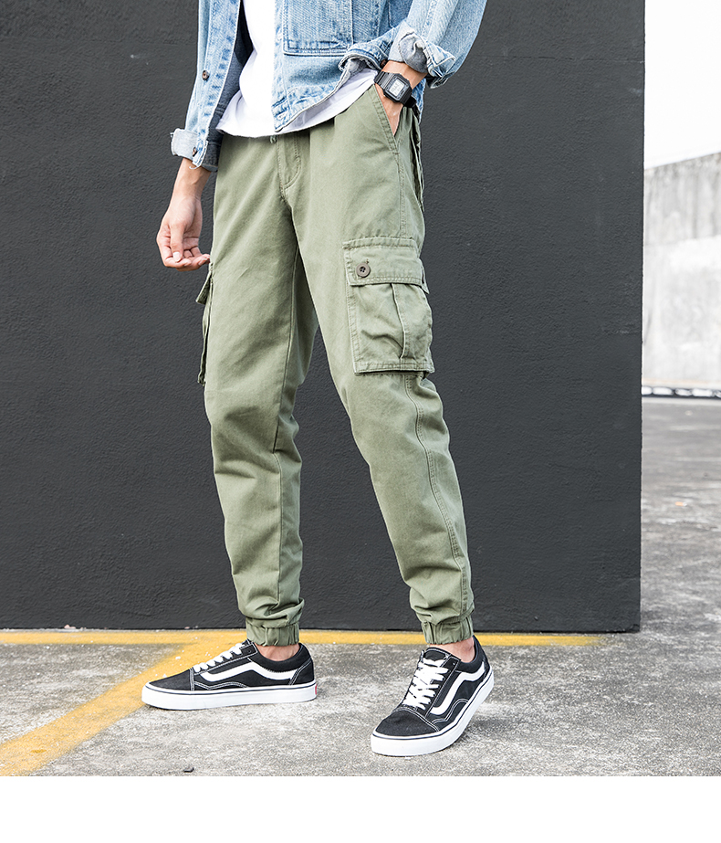 KSTUN Cargo Pants Men Summer Thin Male Overalls Loose fit Trousers casual pants joggers men's clothing brand soft 100% cotton 17