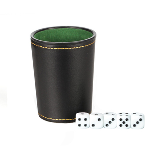 Foreign Trade New Leather PU Trumpet Flannel Dice Cup Bar KTV Entertainment Dice Cup(China)