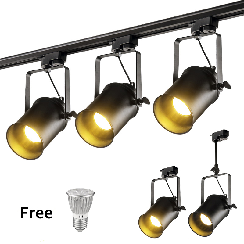 LED Chandelier Track Light Clothing Shop Windows Showrooms Adjustable  Exhibition Spotlight LED Ceiling Rail Spot Pendant Lamp
