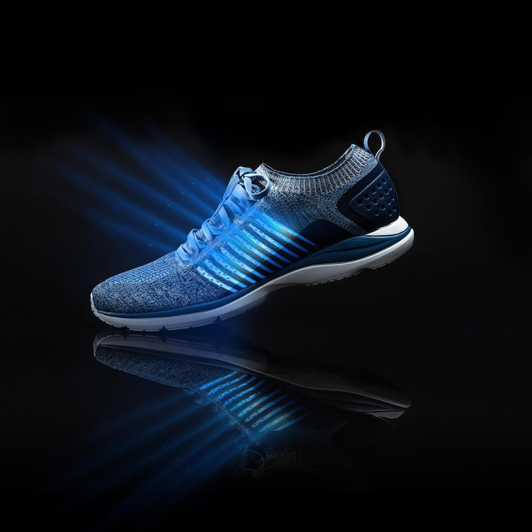 Xiaomi 90 очков ультра легкие кроссовки вязаная обувь носить легкие мягкие стельки вразлёт, плетение дышащая Спортивная обувь для фитнеса смарт - 4