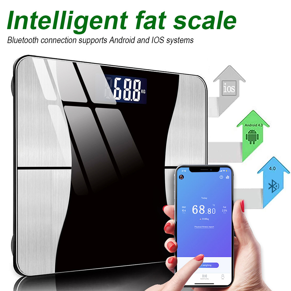 Bluetooth Body Scales Smart Digital Scale Body Composition Bathroom Scale For BMI BFR Muscle Bone Mass Analyzer