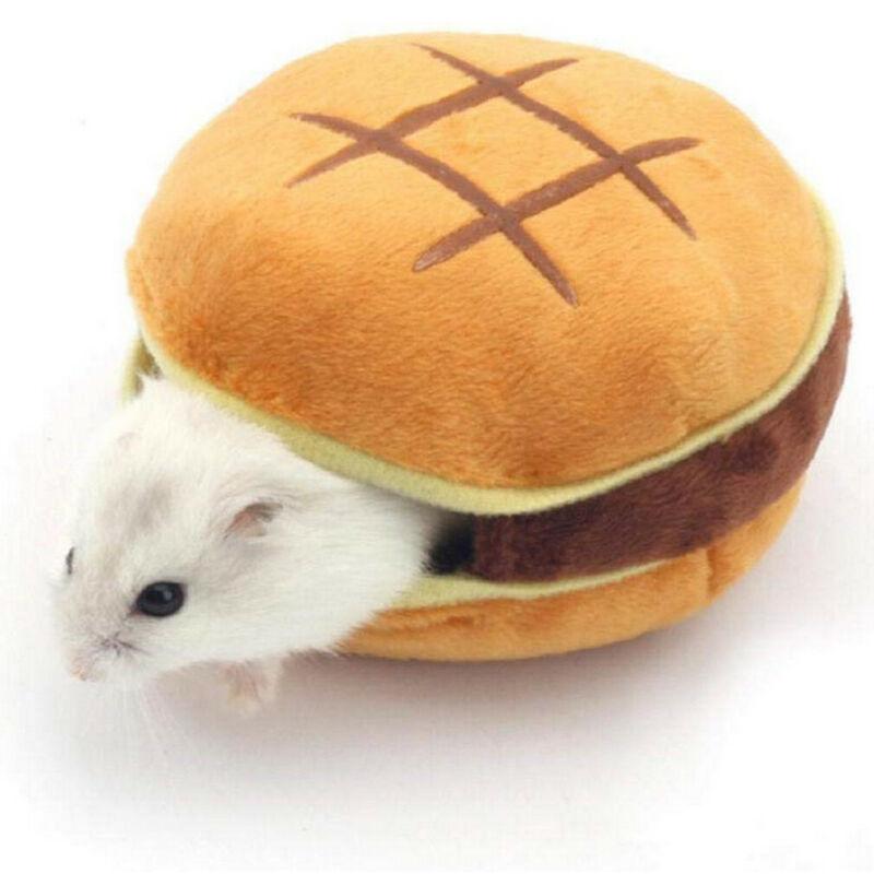 8x6cm Creative Solid Plush Ponge Refill Soft Pet Cozy Guinea Pig Bed House Small Animal Hamster Rat Hammock Nest Pad