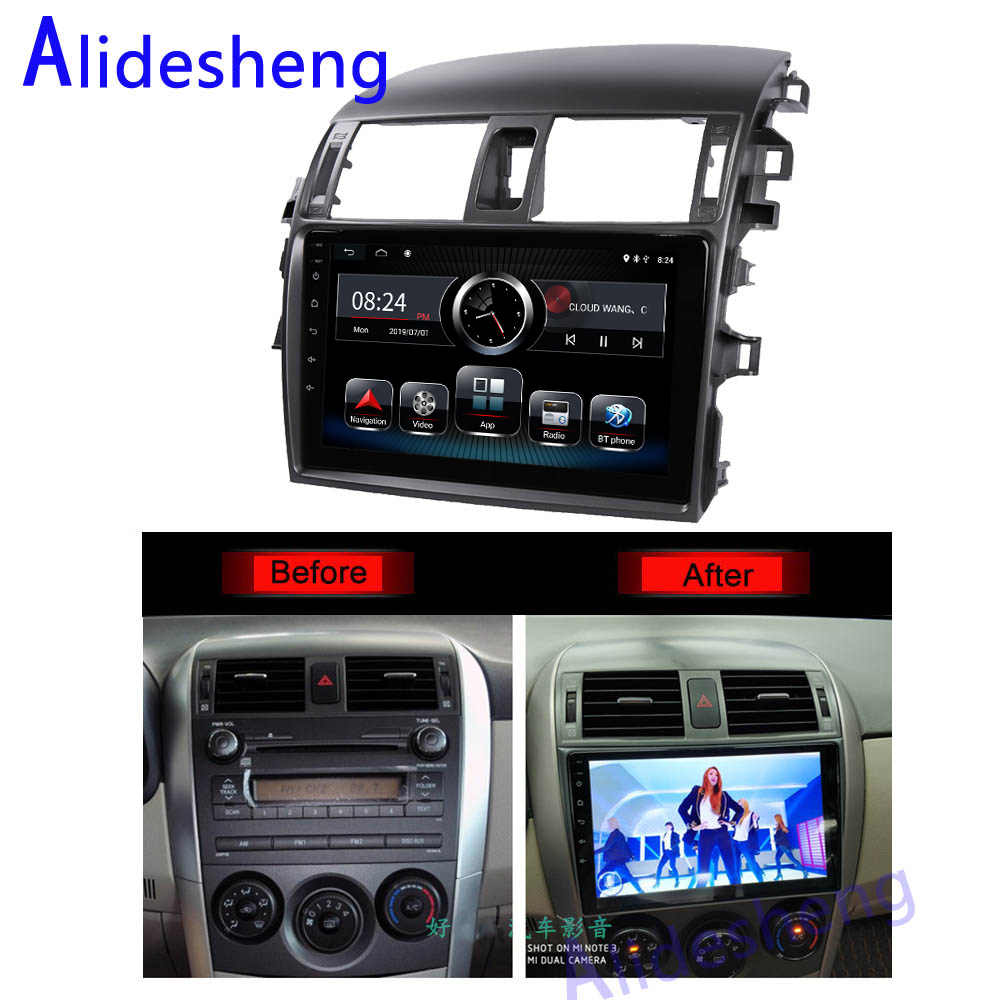 Android 9.0 Car Radio Multimedia Player For Toyota Corolla E140/150 2008 2009 2010 2011 2012 2013 Stereo GPS Navigation 2 din