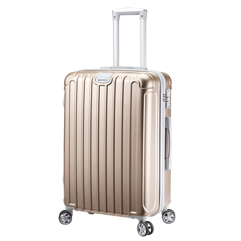 NEWCOM Luggage 20 inch Carry On Hard Sell with Spinner Wheels TSA Lock Champagne Retractable Hanging Belt ABS+PC Lightweight Tro