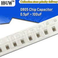 100pcs 0805 SMD Chip Multilayer Ceramic Capacitor 0.5pF - 47uF 10pF 22pF 100pF 1nF 10nF 100nF 0.1uF 1uF 2.2uF 4.7uF 10uF 22uF
