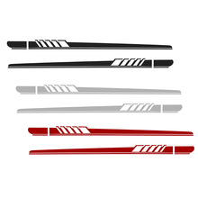 2pcs Universal Racing Body Side Stripe Hood Sticker For All Car Vinyl Bumper Decals цена и фото