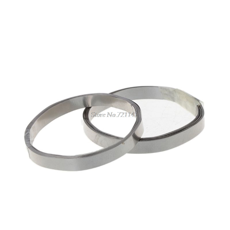 Pure Nickel Strip Tape For Li 18650 Battery Spot Welding Compatible For Spot Welder Machine 0.1 X 5mm 2M Whosale&Dropship