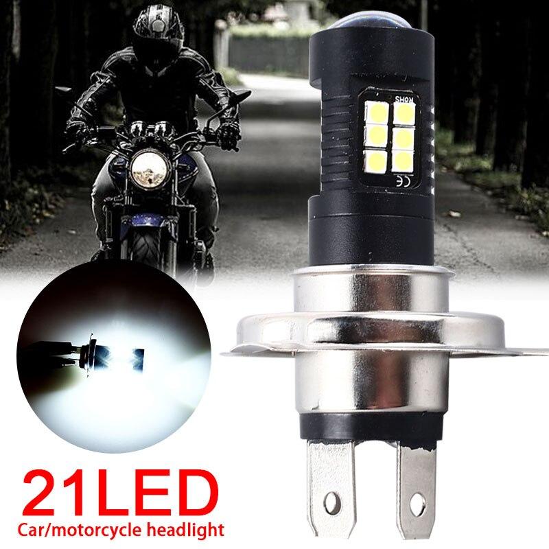 1PC Motorbike H4 H7 H11 P15D 21W LED Motorcycle Headlight Bulb 7000K Hi/Lo Beam Light 3030 21led Car Fog Lamp Turn Signal Light