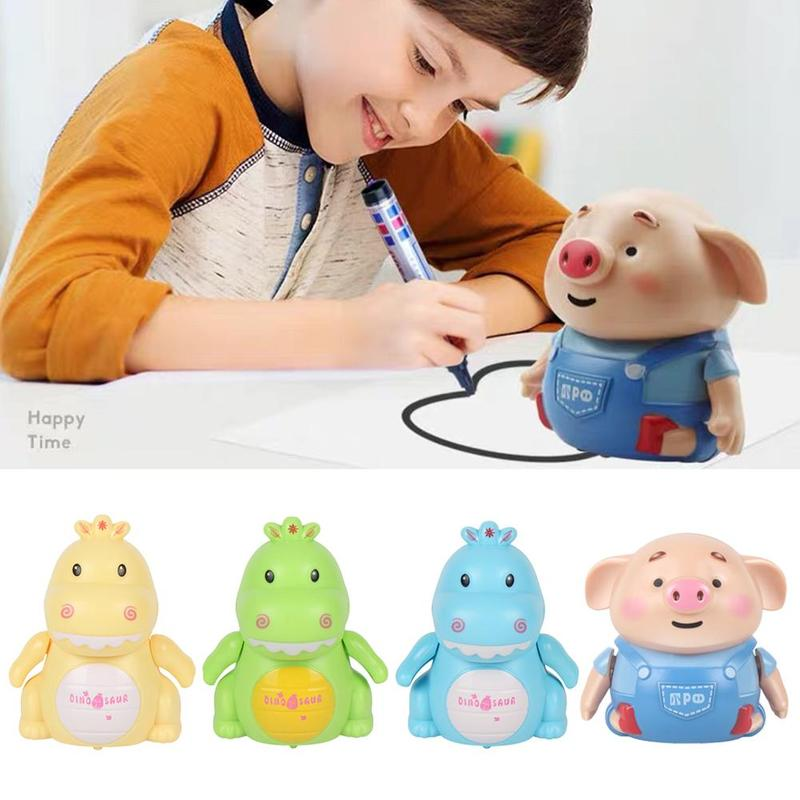 Seaweed Dance Lined Induction Pig Dinosaur Toy With Marker Pen Popular Children Puzzle Board Game Novelty Leisure Toy